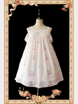Infanta Cherry & Plaid Lolita Dress OP