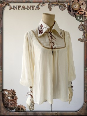 Infanta Mechanical dolls steampunk Lolita Blouse 1