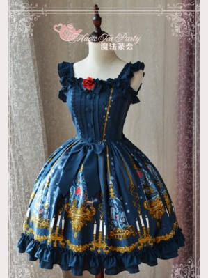 "Magic tea party "" Beauty & The Beast"" Lolita Dress JSK"