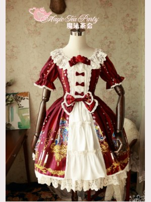 "Magic tea party "" Beauty & The Beast"" Lolita Dress OP"