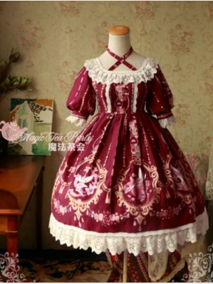 Magic tea party Flower Fairy Lolita Dress OP