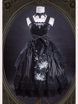 "Ling Xi ""The other side of the song"" Gothic Lolita Dress JSK"