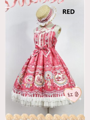 Souffle Song Strawberry bunny Lolita dress JSK