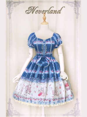 Souffle Song Sweet Cherry Deer lolita dress OP (Special Edition)