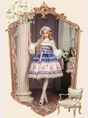 Souffle Song rose valley cherry deer lolita dress JSK 2