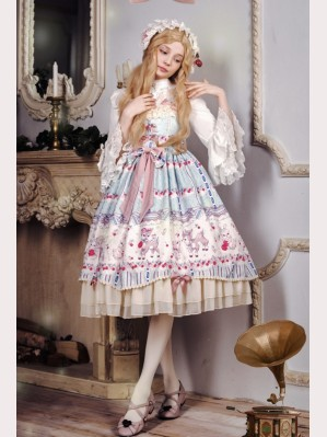 Souffle Song rose valley cherry deer lolita dress jsk