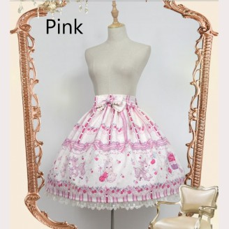 Souffle Song rose valley cherry deer lolita skirt