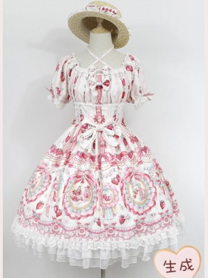 Souffle Song strawberry rabbit lolita dress OP