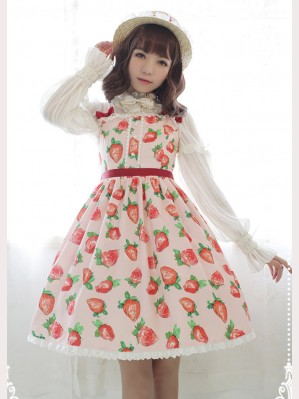 Souffle Song Strawberry Sweet Heart Lolita Dress JSK