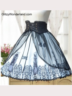 Classical Retro Church Lolita skirt SK
