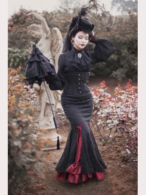0faeb17b7f90 Surface Spell Fish Tail Gothic Lolita Long Skirt
