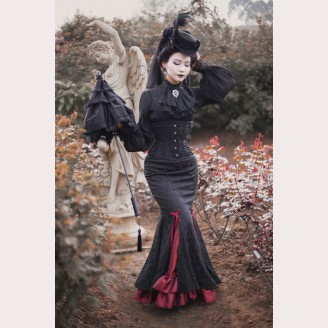 Surface Spell Fish Tail Gothic Lolita Long Skirt