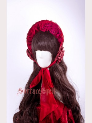 Surface Spell Rosary Gothic Lolita Bonnet