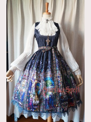 Surface Spell Rosary Gothic Lolita Dress JSK 1