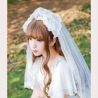 Lolita Bride Lace Veil KC