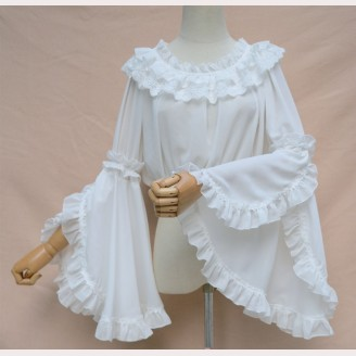 Lolita Long Sleeve Hime Sleeve Crop Top Blouse (BS01)