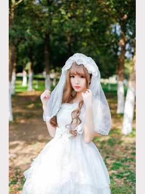 Palace Bride Lolita Headdress Veil KC