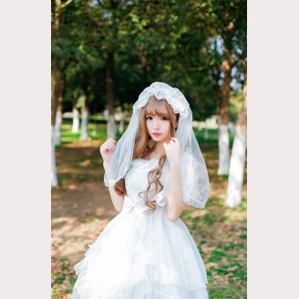 Palace Bride Lolita Headdress Veil KC