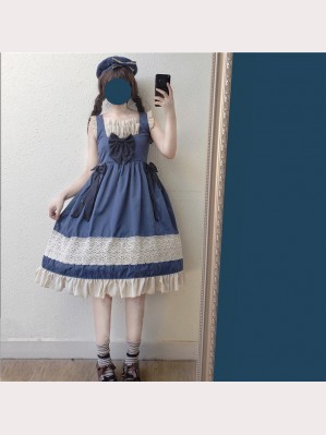 Sweet Navy Lolita Dress JSK