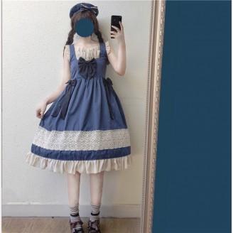 Sweet Navy Lolita Dress JSK