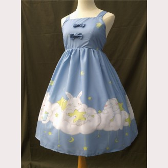 Fishing Star Rabbit Lolita Dress JSK