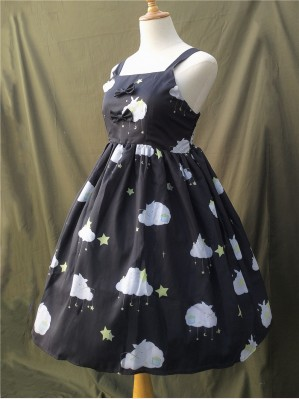 Fishing Star Rabbit Lolita Dress JSK - Design 2