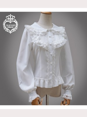 2018 Long Sleeve Lolita Chiffon Blouse (K011)