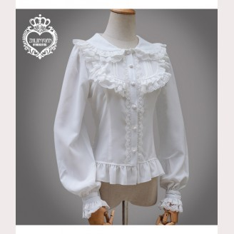 Long Sleeve Lolita Chiffon Blouse (K011)