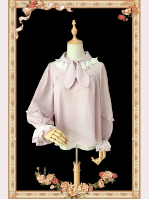 Clearance Sale! Infanta Bow Tie lolita blouse - Color Ivory Size M (C02)