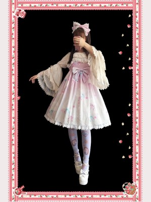 Infanta Rainbow Cotton Candy Lolita Dress JSK (IN18)