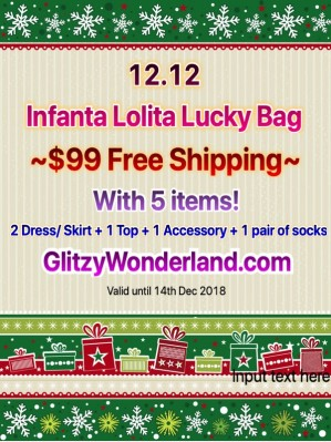 12.12 Infanta $99 for 5 items Lolita lucky bag!