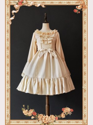 Infanta Little Mary Polka Dots Lolita Dress JSK