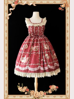 Infanta Picking Berries Squirrel Lolita Dress JSK