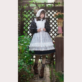Infanta Sugar and Matcha Lolita Apron