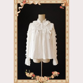 Infanta Warm Milk Tea Lolita Blouse