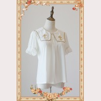 Infanta Cross embroidery lolita short sleeves blouse