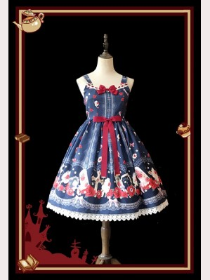 Infanta Cross rose popsicle Lolita Dress JSK & KC Set