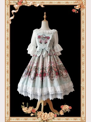 Infanta Royal Mural Lolita Dress JSK