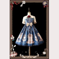 Infanta The bell of heaven Lolita Dress JSK & KC Set