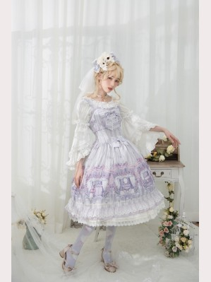 Infanta Girls Room lolita dress JSK & KC Set (IN920)
