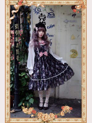 Infanta Wallpapaer Flower Lolita Dress JSK (IN17)