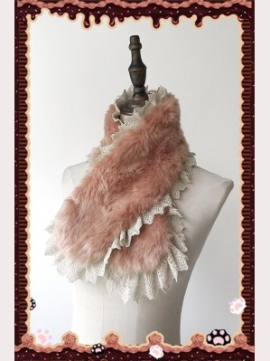 Infanta Candy Town Furry Lolita Scarf