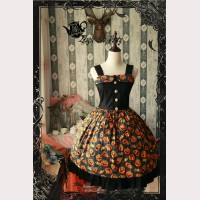 Magic tea party Halloween Pumpkin Lolita Dress JSK