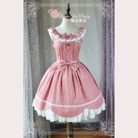 Magic tea party polka dots round collar lolita dress JSK