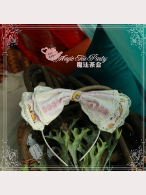 Magic tea party Alice Lolita Matching Headbow KC