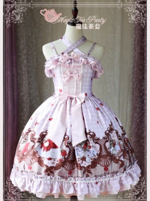 Magic Tea Party Flowers & Birds Lolita Dress JSK 1