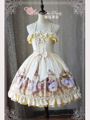 Magic Tea Party Flowers & Birds Lolita Dress JSK 2