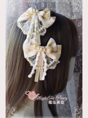 Magic Tea Party Flowers & Birds Lolita Hairclip x 1 pair