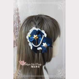 Magic Tea Party Starry Sky Matching Lolita hairclip