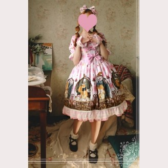 Magic tea party Squirrel couple lolita dress OP
